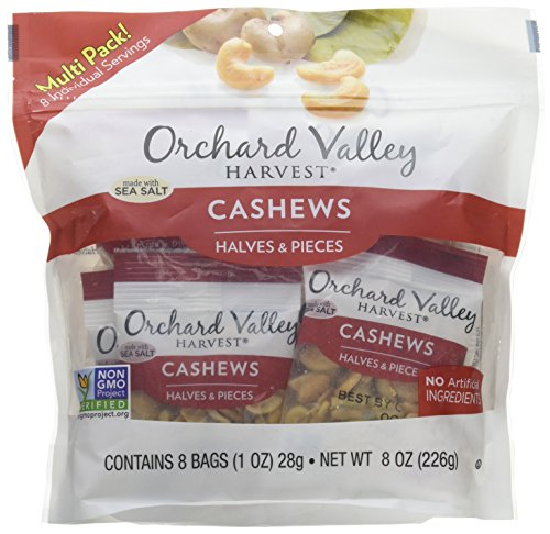 ORCHARD VALLEY HARVEST Roasted Salted Cashew Half & Pieces, 8 OZ