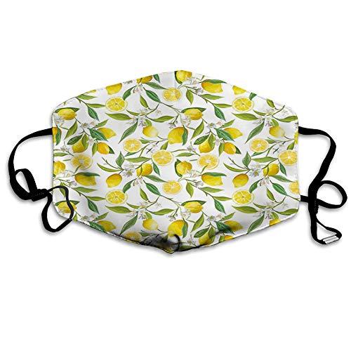 Cómoda cubierta de cara a prueba de viento, estilo dibujado a mano, coloridas plantas, rosas y flores silvestres con pequeños puntos (73), decoraciones faciales impresas para adultos