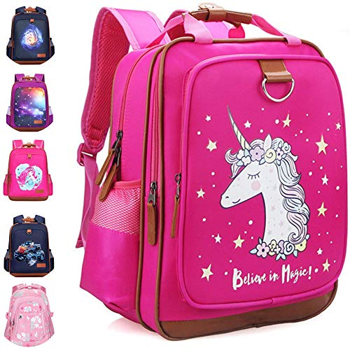 Girls Backpack Unicorn 15' |Durable and Functional School Book Bag Perfect for Kindergarten or Elementary | Lightweight Back Pack for Kids