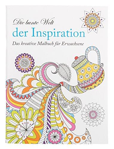 Idena 68137 - Malbuch für Erwachsene, Motiv Inspiration, 64 Seiten