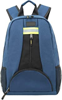 Waterproof Tool Backpack, Heavy Duty 1680D Oxford Cloth Work Backpack, Tool Bag for Wrench, Screwdrivers with Durable Shoulders for Contractor, Electrician, Plumber, HVAC, Cable Repairman (blue)