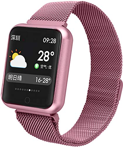 Smartwatch Fitness Armband für Damen Herren Sportuhr mit Herzfrequenz Schlaftracker Schrittzähler IP68 Wasserdicht Android und IOS