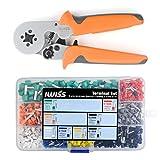 アイウィス(IWISS) フェルール用圧着ペンチ 0.25-6.0mm2 HSC8 6-4A ワイヤーエンドスリーブ用棒端子 端子セット品 HSC8 6-4A/E-770
