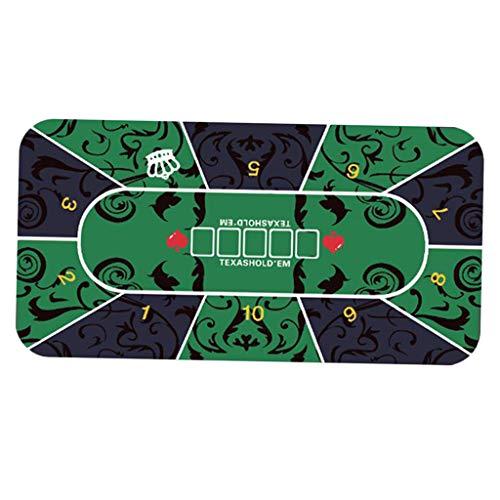 Nobranded Folding Poker Tisch Top Matte, Professionelle Texas Tragbare Gummi Schaum Poker Tisch Layout Pat Glücksspiel Spieler Spiel Layout Pad