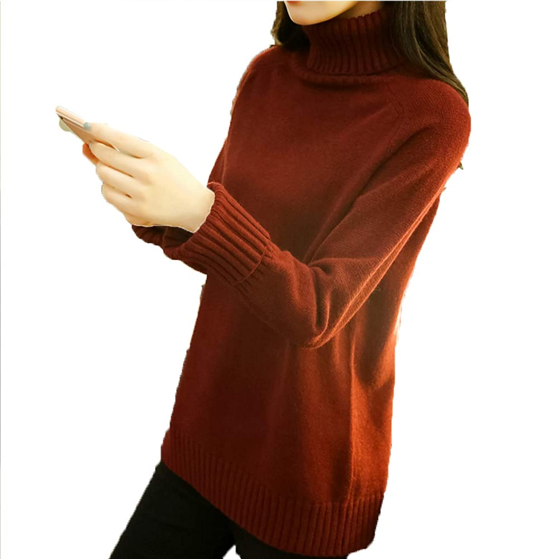 [美しいです] セーター レディース ハイネック ニットセーター プールオーバー タートルネック 無地 おしゃれ トップス 防寒 上着