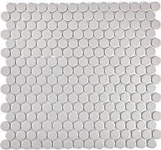 Mozaïek tegels mozaïektegels keramiek mozaïek keramische tegel knop lichtgrijs ongeglazuurd