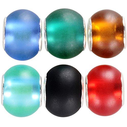 rubyca 50pcs Bulk abstracto Murano perlas de cristal ajuste encanto pulsera Europea para DIY Jewelry Making