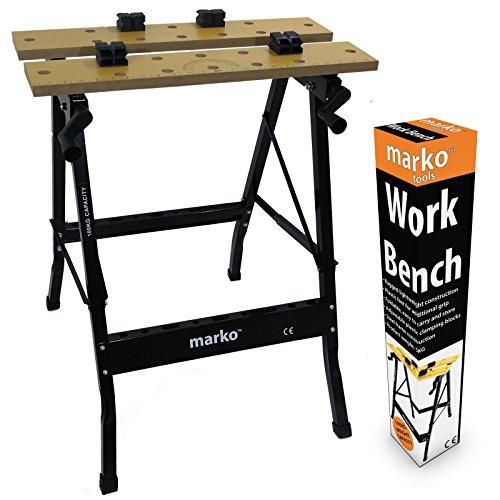 100KG Heavy Duty Portable Folding Workbench Wood Bench Work Clamping Worktop DIY