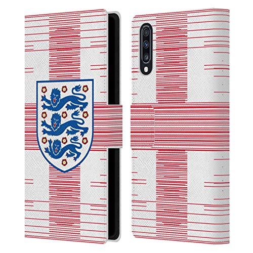 Head Case Designs sous Licence Officielle England National Football Team Drapeau 2 Crête 3 Coque en Cuir à Portefeuille Compatible avec Samsung Galaxy A70 (2019)