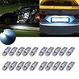 Tuincyn T10 LED Ampoule à coin blanche Auto-éclairage intérieur Festoon Dôme léger Plaque...