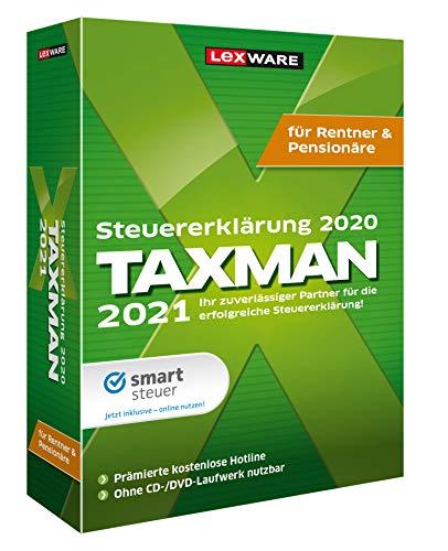 Lexware Taxman 2021 das Steuerjahr 2020|Minibox|Übersichtliche Steuererklärungs-Software Rentner und Pensionäre|Standard|1|1 Jahr|PC|Disc