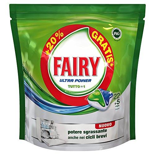 Fairy Ultra Power Tutto in Uno Caps Per Lavastoviglie, Confezione da 27 Lavaggi