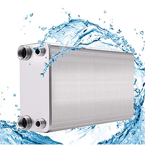 Great Deal! NEWTRY Plate Heat Exchanger Stainless Steel Brazing Plate Hydronic Heating for Domestic ...