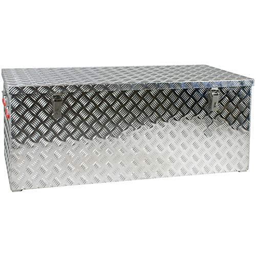 JUMBO Alluminium Riffelblech-Box Alu 312 Liter ALUT312 L1272 x B 525 x H 515 mm ALU-Box Kiste Transport-Box Tränenblech