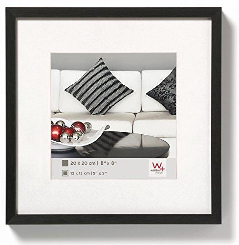 walther design AJ220B Aluminium-Bilderrahmen Chair, 20x20 cm, schwarz