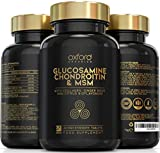Glucosamine and Chondroitin MSM Tablets High Strength | 60 Glucosamine Sulphate Tablets - with Collagen, Citrus Bioflavonoid and Ginger Root Extract | Glucosamine Tablets Men and Women Made in The UK