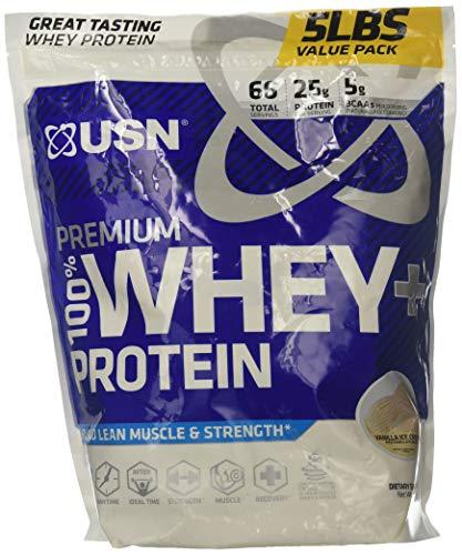 USN Premium Whey + Protein, Vanilla Ice Cream, 5lbs