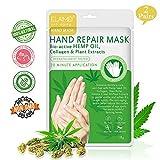 2-Pack Moisturizing Gloves, Hemp Oil Treatment Hand Spa Mask for Dry,Cracked Hands,Moisturizer Hands Mask, Repair Rough Skin for Women&Men