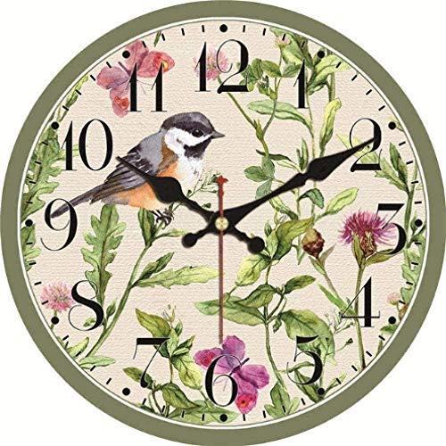 Wall Clock Natural Landscape Wall Clocks Birds Silent Living Study Office Kitchen Home Decor Art Wall Clock-1