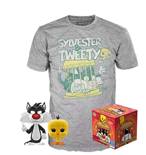 Funko pop looney tunes silvestre & piolin version terciopelo 50755 + camiseta...