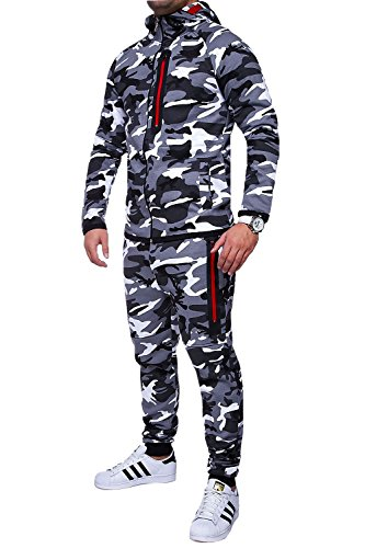 MT Styles Trainingsanzug Harlem Sporthose TR-5037 [Grau, L]