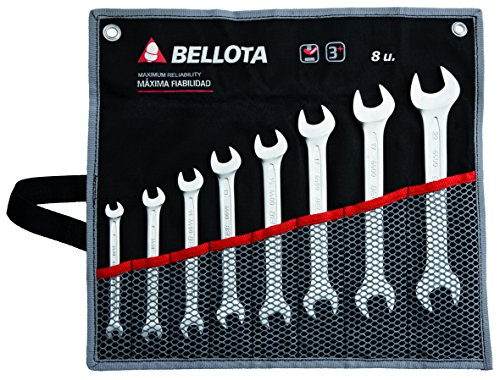 Bellota 6490-8 BS juego 8 llaves fijas en bolsa, Standard