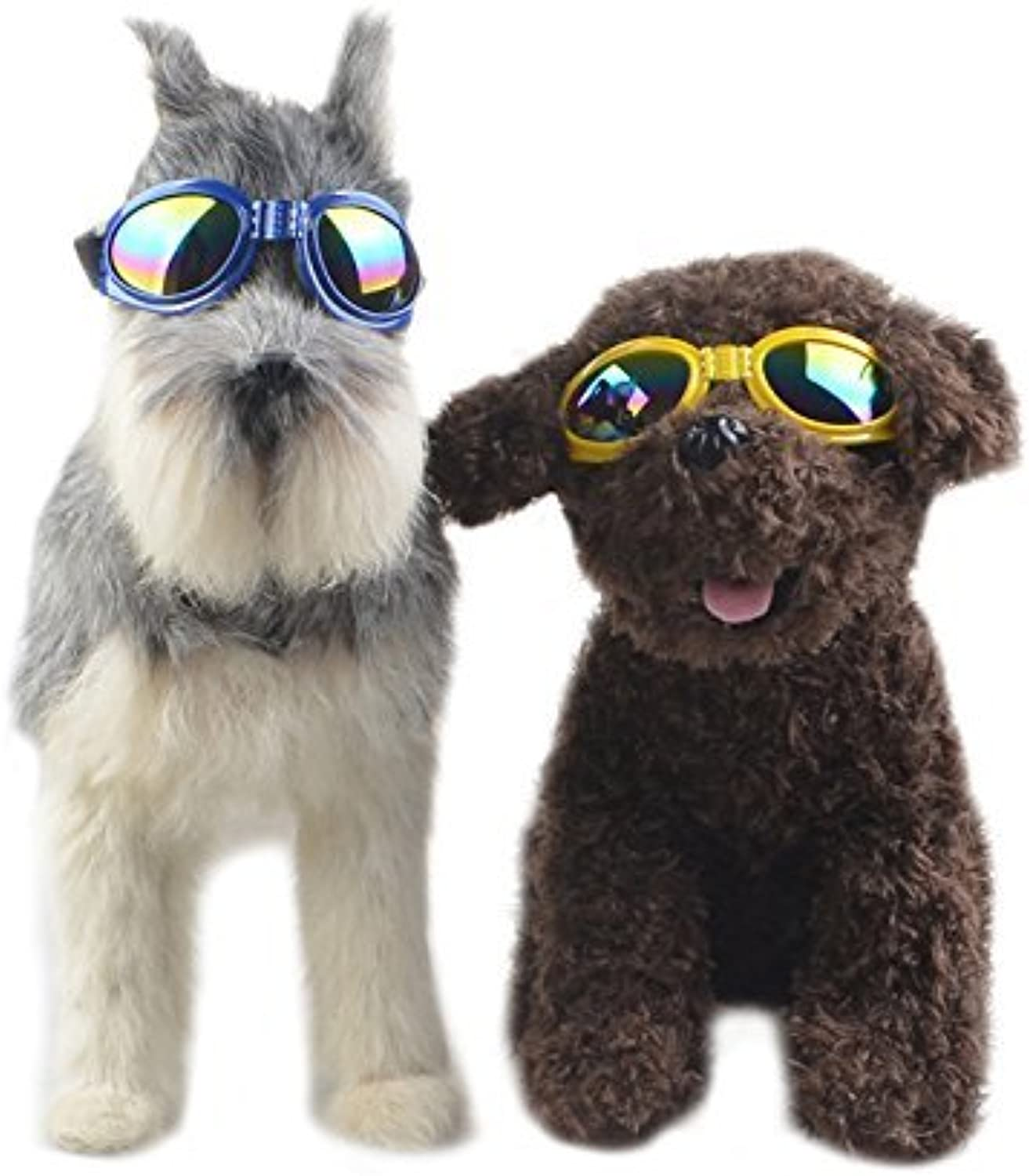 IFashion Pet Sunglasses for Travel, Skiing,Surfing,Driving with Fashionable Waterproof Foldable UV AntiScratch to Predect Pet Eyes (Yellow)