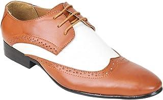9d869766d62108 Kebello Chaussures Bi-Colore Homme Marron