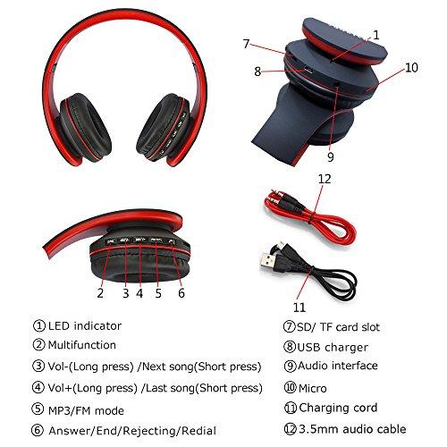 Pieghevole Bluetooth Cuffia Auricolare, Cuffie
