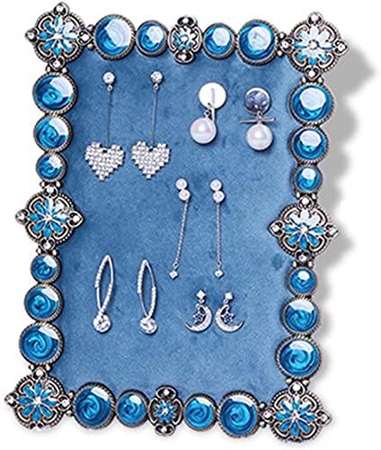 Soporte de joyería Decoración de escritorio Hierro forjado Soporte de Joyería Combinación Anillos Collar Pendiente Pantalla Soporte Sistema, Sin Joyería