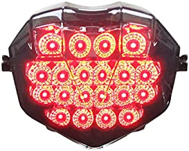 Integrated Sequential LED Tail Lights Smoke Lens for 2013-2017 Triumph Daytona 675/675R 13-18 Street Triple