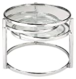 New Spec Cota Chrome frame and Glass 3 Tier Swivel Motion Coffee Table