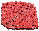 Gjrff Fly Bicycle Color Chain Road Bike Bicycle Dead Fly Single Speed Cadena Bicicleta Cadena de Bicicleta Suministros de Equitación Accesorios (Size : Red)