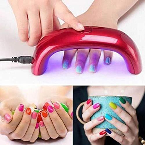 Kloius Durable Práctica Mini UV LED Lámpara de uñas Nail Art Secador Gel Polaco Herramienta de manicura Secadores de uñas