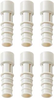 伊勢藤 エアコン排水ホース用防虫キャップ ホワイト 径2×6.5 日本製_エアコンホースに差し込むだけ I-578-3 3個組入 2個セット