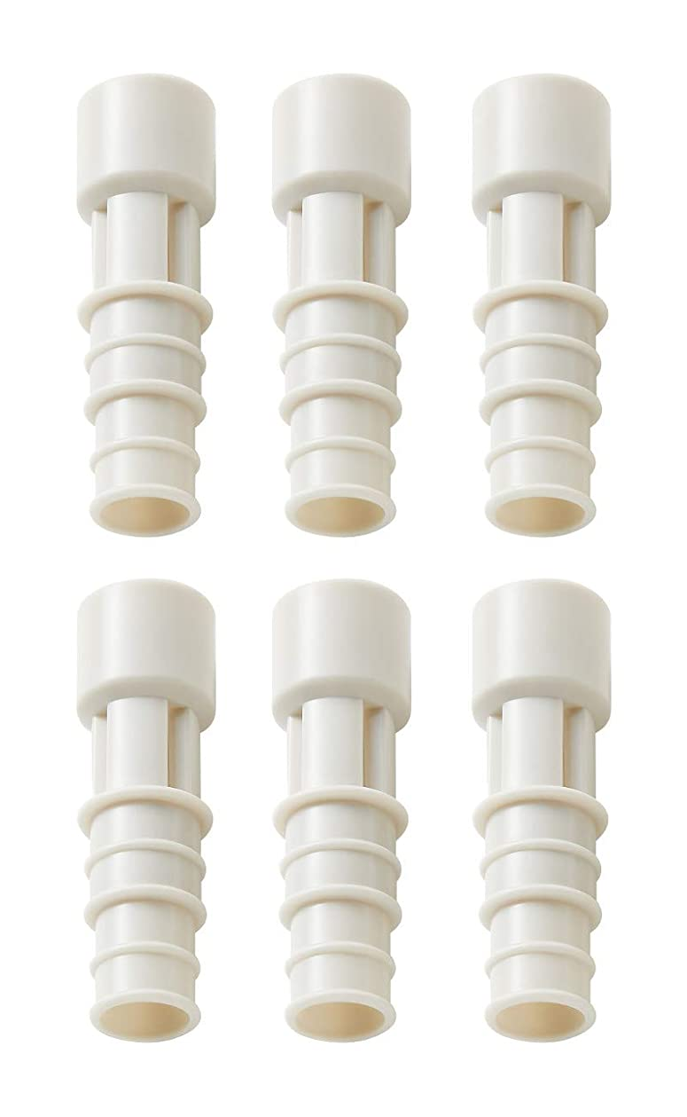またねストライク放棄イセトウ(Isetou) 防虫 ホワイト 径2×6.5 エアコン排水ホース防虫キャップ 3本入 2個セット