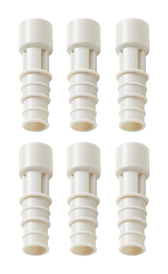 電気口径評決イセトウ(Isetou) 防虫 ホワイト 径2×6.5 エアコン排水ホース防虫キャップ 3本入 2個セット