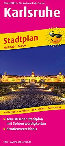Karlsruhe: Touristischer Stadtplan mit Sehenswürdigkeiten und Straßenverzeichnis. 1:14000 (Stadtplan: SP)