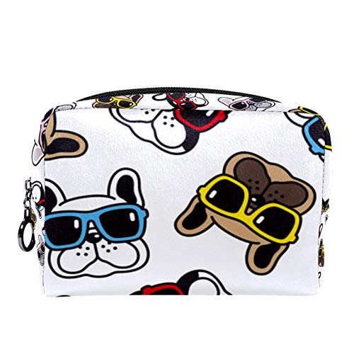 Bolsa de Maquillaje de Viaje portátil,Gafas de Sol Bulldog