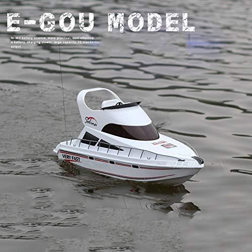 TBFEI Remoto RC Barco De Control De Alta Velocidad Lancha Rápida Modelo Nave De La Simulación Yate Barco De Remos Modelo De Control Remoto Barco De La Velocidad Barco De Juguete Dirigible 2.4G De Alta