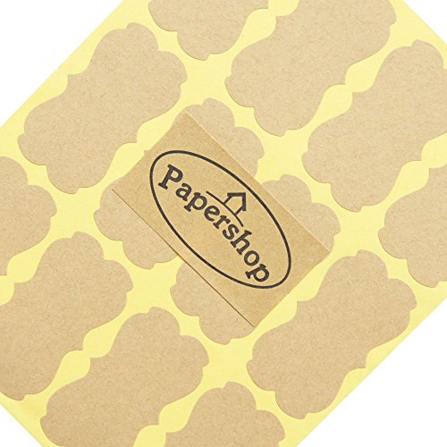 Kraft Labels (x36) - DIY Blank Kraft Stickers - for Jam Jars, Home Baking, Handmade Gifts, Cosmetic Tin/Pot Labelling & Craft
