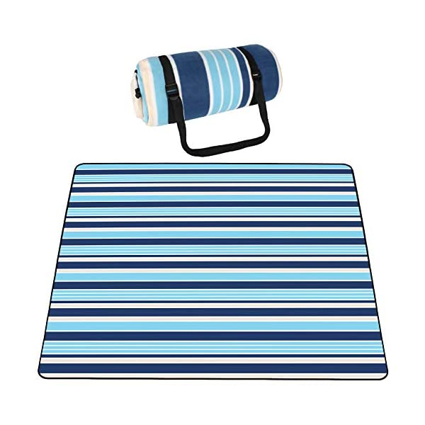 SKYSPER Large Picnic Blanket with Waterproof Backing 200 * 200cm Folding Carpet Mat Portable Outdoor Soft Camping Tote…