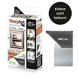 flexylot Bildaufhänger - 2x Fix | Flexibel ohne Bohren für leichtere Bilder bis 3 kg |...