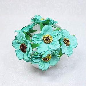 DSWJH Fake Flowers Heads Mini Silk Artificial Poppy Bouquet Wreath Scrapbook Wedding Decoration