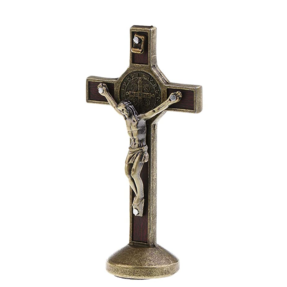 誇張する注釈見落とすdailymall 十字架チャーム イエス キリスト 十字架ペンダント アクセサリー トップ 全3カラー - ブロンズ