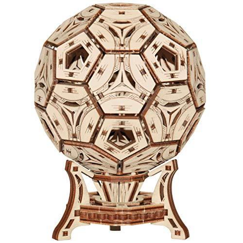 Wooden City - Voetbal beker - 3D houten puzzel - Houten Mechanische Transmissie Model 3D - Lijmvrije montage