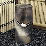 信楽焼 仲良しふくろう【dt-0034】 湧き水つくばい 電動つくばい つくばい 陶器かけひ 蹲 循環式つくばい ウォーターオブジェ