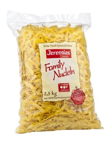 Jeremias Wellenband, Family Frischei-Nudeln, 1er Pack (1 x 2.5 kg Beutel)