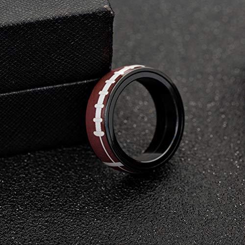 Amosfun 1 Pc Rugby Ring Titan Stahl Drehring für Schmuck Drehring für Erwachsene Frauen Männer tragen