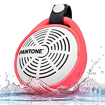 Pantone Ultra-HD Sound Waterproof Handsfree Hanging Bluetooth Subwoofer Speaker - 8Hr Play Time Mic BT Calls Long Distance Connectivity iOS/Android Compatible [Radiant Pink]